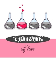 Love chemistry beakers vector