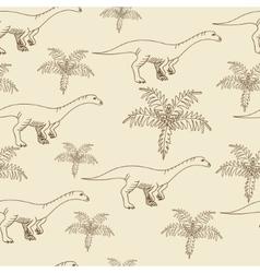 Lufengosaurus seamless retro vector image
