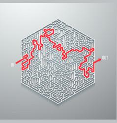 maze icon vector image