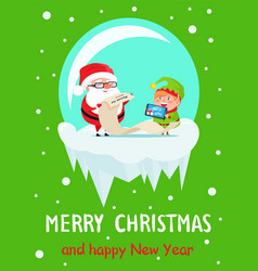 Merry christmas and happy new year gifts list vector