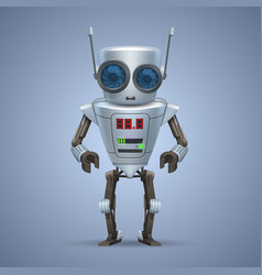 Metal robot vector
