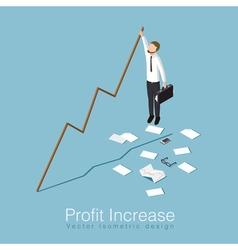 Profit increase concept vector
