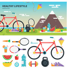 Recomendations for healthy lifestyle vector
