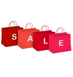 Seasonal sale shopping bags vector image vector image