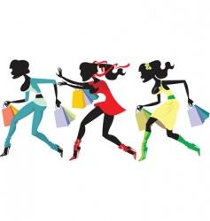 shopping marathon vector image vector image