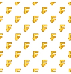 Swiss franc currency symbol pattern cartoon style vector