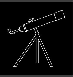 telescope the white path icon vector image