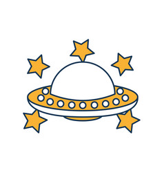 Unidentified flying object with stars vector
