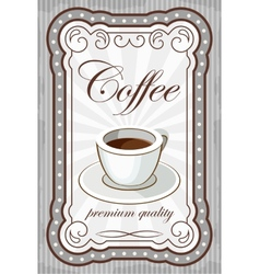 Vintage coffee poster vector