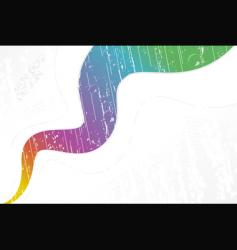 white wavy rainy rainbow background vector image vector image
