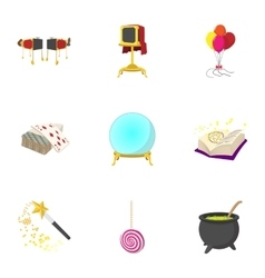 Witchery icons set cartoon style vector