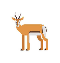 Flat style of antelope vector
