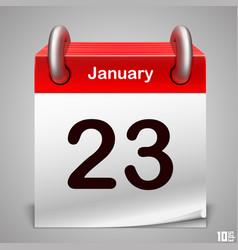 calendar icon white art vector image