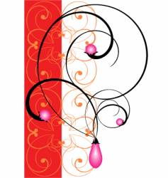 Jewelry pearls vector