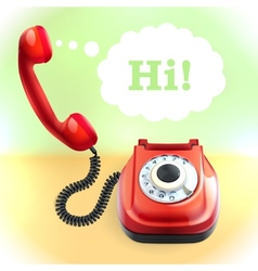 Retro style telephone background vector