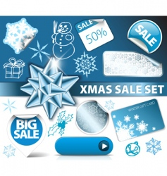 set of Christmas discount vector image