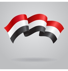 Yemeni waving flag vector