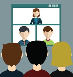Video conference online meeting vector