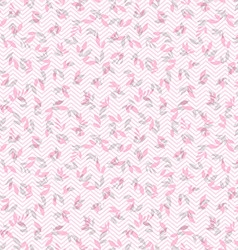 Floral pattern with leaves vector