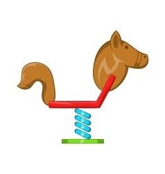 Horse swing icon cartoon style vector
