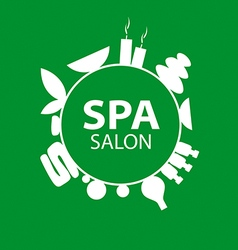 Abstract round logo for Spa salon vector image