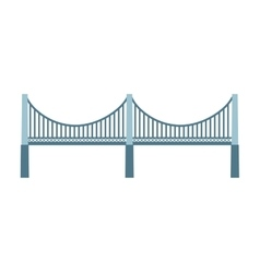 bridge silhouette isolated icon vector image