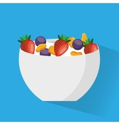 Cereal bowl menu icon vector