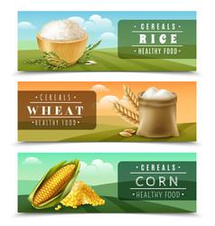 Cereals banner set vector
