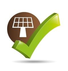 concept ecological icon panel solar vector image