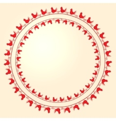 embroidery folk ornament with birds vector image