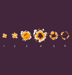 Explosion frames for animation vector