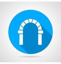 Flat circle icon for round arch vector image vector image