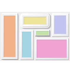 Frames with a colorful background vector image vector image