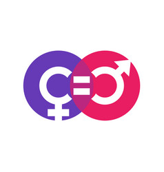 Gender equity symbol icon on white vector