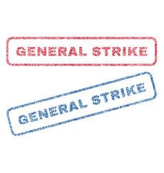 General strike textile stamps vector