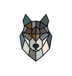Head of a wolf logo template abstract mascot vector