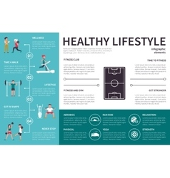 Healthy lifestyle infographic flat vector