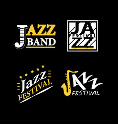 Jazz club musical live festival sax and vector