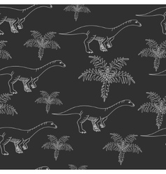Lufengosaurus chalk seamless vector image vector image