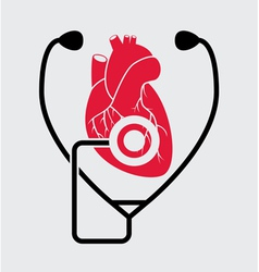 medical check of heart health vector image vector image