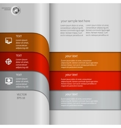 Modern striped infographics vector image