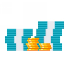 Money and Coins vector image vector image