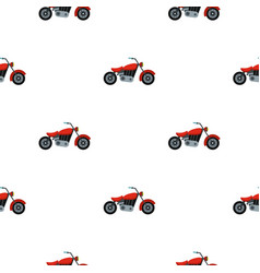 Motorcycle pattern flat vector