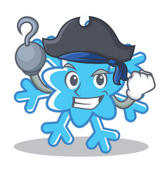 Pirate snowflake character cartoon style vector
