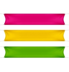 Red yellow and green blank empty banners vector
