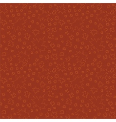Seamless pattern with leaves outlines vector image vector image