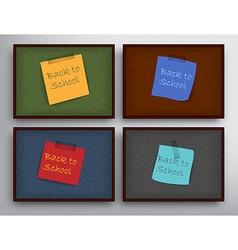 Set of school elements vector