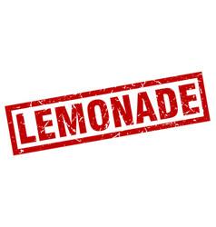 Square grunge red lemonade stamp vector