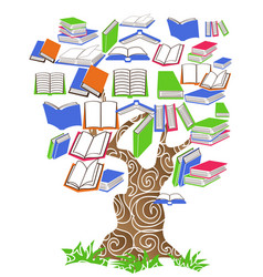 tree book vector image