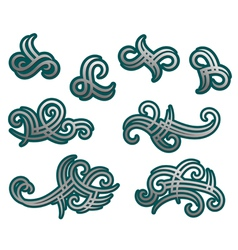 Tribal tracery elements and embellishments vector image vector image